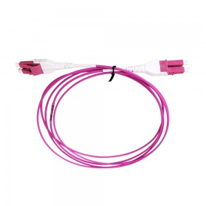Switchable LC Uniboot patchcord 10 Gigabit Multimode Duplex OM4 Fiber Optic Cable