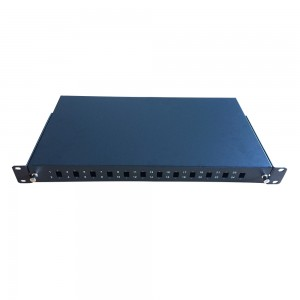 19″ ODF 12Port Fiber Optic Patch Panel