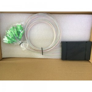 1 :16 PLC Splitter With ABS Box Type, Fiber Optic Passive Splitter Used For Distribution Box