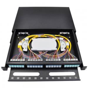 6,12,24,48,96 Fibers Optional,High Density Rack Mounted Fiber Optic Patch Panel