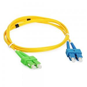 Wholesale SCUPC-SCAPC Singlemode Duplex Optical Fiber Patch Cord with cheap price