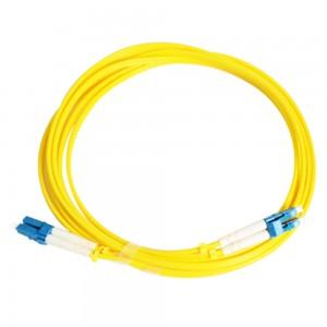 LC 9/125 kabel Singlemode serat optik patch Sareng ka sahandapeun Loss Insertion Jeung High Return Loss