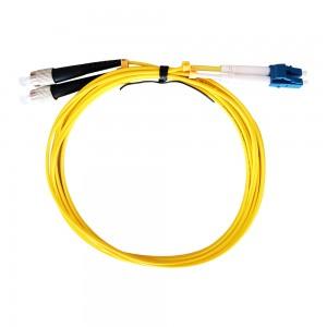 Bend Insensitive FC-LC Duplex Singlemode Fiber Optic Patch Cord