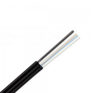 GJYXFCH 5.0*2.0 SM Duplex FTTH Fiber cable G657A2丨2-Fiber Self-Supporting Covered Wire Cable