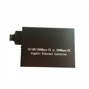 10/100/1000Base-TX to 1000Base-FX Gigabit Ethernet Converter