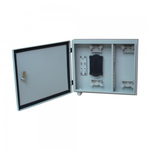 Outdoor wall type fiber optic distribution frame