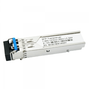 1.25G 1310nm 10km SM DDM SFP Fiber Optic Transceiver